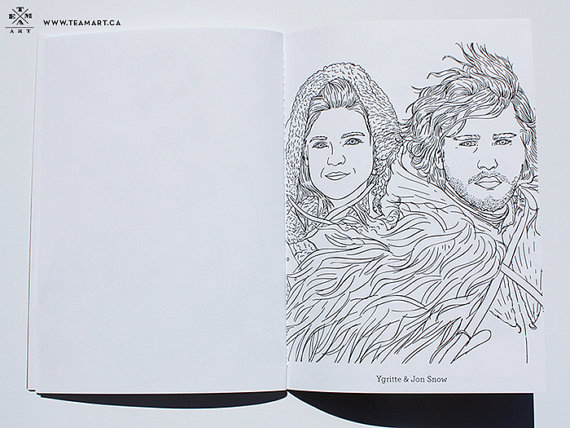 The Good People Of Team Art Create Modern Coloring Books For Young At Heart Toronto Store Features Colorless Faces Pop Culture Icons From