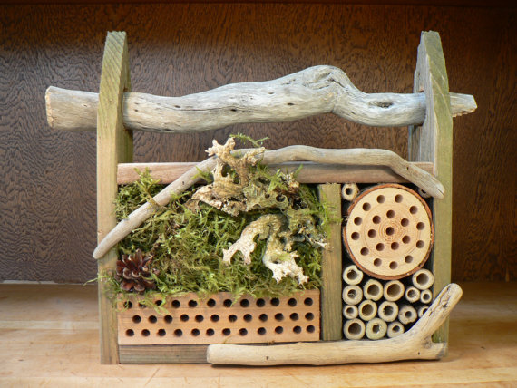 A driftwood inspired bee home for your garden from Flotsam and Jetsam crafts